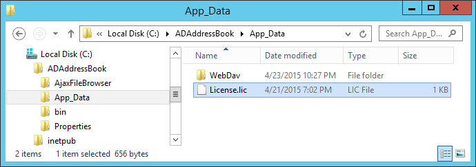 Put the License.lic file into the /App_Data/ folder.