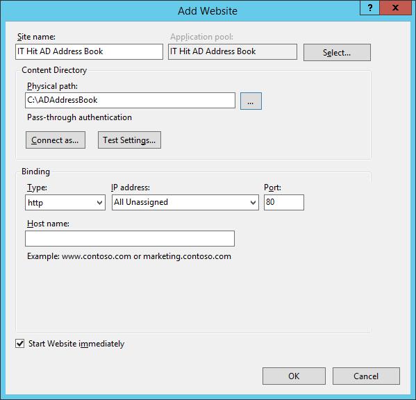 Active Directory Address Book CardDAV Server ASP NET Website